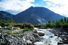 Естественный ландшафт в долине Nubra Стоковые Изображения RF