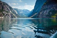 Естественный ландшафт на geirangerfjord в Норвегии Стоковое Изображение RF