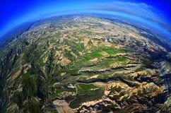 Естественный ландшафт с старыми красочными образованиями песчаника Стоковые Фото