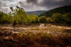 Естественный ландшафт уловленный штормом Стоковая Фотография RF
