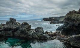 Естественный бассейн Charco De Ла Laja, на севере Тенерифе Стоковая Фотография RF