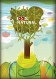 естественный вал 100 Иллюстрация вектора