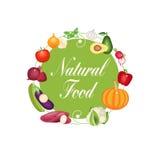 Естественный вектор концепции овощей Fod бесплатная иллюстрация