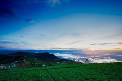 Естественный восход солнца захода солнца Phu Thap Boek, горы Phetchabun Небо ландшафта на восходе солнца рассвета захода солнца Н Стоковая Фотография RF