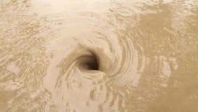 Естественный водоворот в воде сток-видео