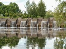 Естественный водопад ландшафта Стоковое Фото