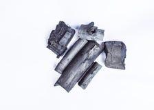 Естественный деревянный изолированный уголь Стоковые Фотографии RF