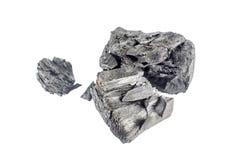 Естественный деревянный уголь изолированный на белой предпосылке Стоковое Изображение
