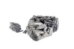 Естественный деревянный уголь изолированный на белой предпосылке Стоковая Фотография RF