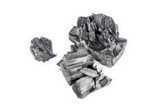Естественный деревянный уголь изолированный на белой предпосылке Стоковые Изображения RF