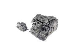Естественный деревянный уголь изолированный на белой предпосылке Стоковое Изображение RF