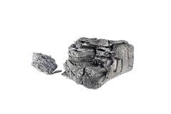Естественный деревянный уголь изолированный на белой предпосылке Стоковая Фотография