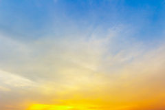 Естественный зеленый цвет ландшафта на предпосылке неба Стоковая Фотография
