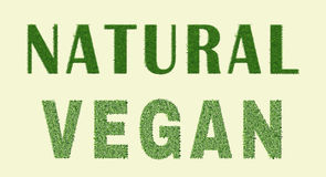 Естественный дизайн vegan Иллюстрация штока