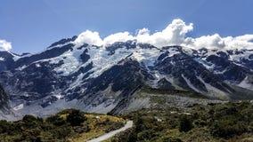 Естественный ландшафт горы снега повара держателя, Новой Зеландии стоковая фотография