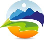 Естественный логотип горы Стоковая Фотография RF