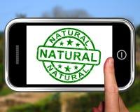Естественный на Smartphone показывая необработанные продукты Стоковое Изображение RF