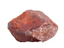 Естественный образец железной руды гематита на белой предпосылке Стоковая Фотография
