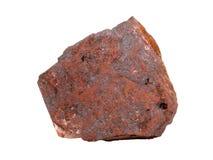 Естественный образец железной руды гематита на белой предпосылке Стоковые Фотографии RF