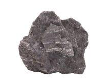 Естественный образец железной руды магнетита на белой предпосылке Стоковые Фотографии RF