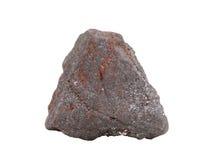 Естественный образец железной руды магнетита на белой предпосылке Стоковая Фотография RF