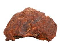 Естественный образец железной руды ferriferous песчаника на белой предпосылке Стоковая Фотография RF