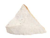 Естественный образец диатомина gaize, утес opoka на белой предпосылке Стоковые Фото