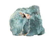 Естественный образец минерала фторита или fluorspar на белой предпосылке Стоковая Фотография