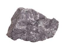 Естественный образец минерала †графита «мягко от класса родных элементов, изменения углерода на белой предпосылке Стоковые Фотографии RF
