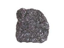 Естественный образец минерала хромита, самая важная руда хромия на белой предпосылке стоковые изображения rf