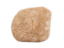 Естественный образец осадочная порода †chertarenite песчаника «общая на белой предпосылке Стоковая Фотография RF