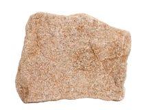 Естественный образец осадочная порода †chertarenite песчаника «общая на белой предпосылке Стоковые Фото