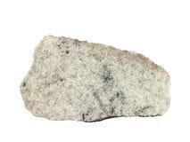 Естественный образец тонкозернистого апатита на белой предпосылке Стоковые Изображения