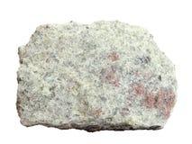 Естественный образец тонкозернистого кристаллического апатита на белой предпосылке Стоковое Фото