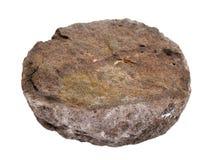 Естественный образец узелкового фосфорита разделил с зернами glauconite на белой предпосылке Стоковое Фото