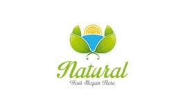 Естественный логос иллюстрация вектора