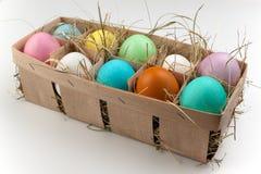 Естественный пакет 10 покрасил яичка изолированный на белизне Стоковые Фотографии RF