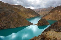 естественный пейзаж Тибет Стоковые Изображения