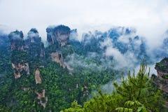 естественный пейзаж zhangjiajie Стоковая Фотография