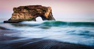 Естественный пляж Santa Cruz мостов Стоковое Изображение RF