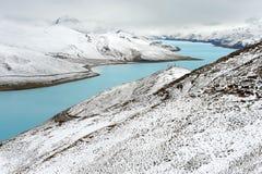 естественный снежок Тибет пейзажа Стоковая Фотография