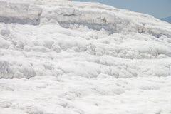 Естественный травертин на Pamukkale Стоковые Фото
