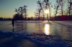 Естественный Iceskating Стоковое Изображение RF