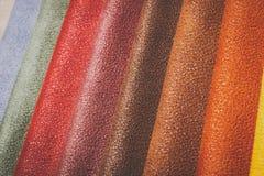 Естественный variegated кожаный крупный план предпосылки Стоковые Изображения RF