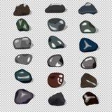 18 естественных камней Стоковое Фото