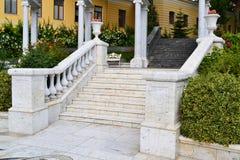 лестница красивейшего декора нутряная мраморная Стоковое фото RF