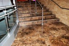 лестница красивейшего декора нутряная мраморная Стоковое Фото