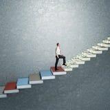 лестница успеха 3d Стоковое фото RF