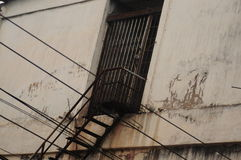 лестница утюга старая Стоковое Фото