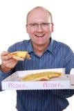 ест пиццу человека стоковые изображения rf